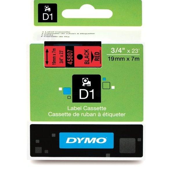D1 Standard Tape Black On Red 19mmx7m