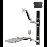 "Amer AMR1AWSV3 monitor mount / stand 61 cm (24"") Black, Silver"