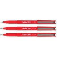 Artline 200 fineliner Red 12 pc(s)