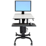 Ergotron WorkFit-C, Single HD Sit-Stand Workstation Multimedia cart Black, Gray