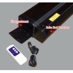 "Sapphire SEFL203-V 100"" 4:3 Black projection screen"