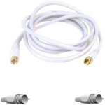 """Belkin F8v304-25whbkst coaxial cable 299.2"""" (7.6 m) White"""