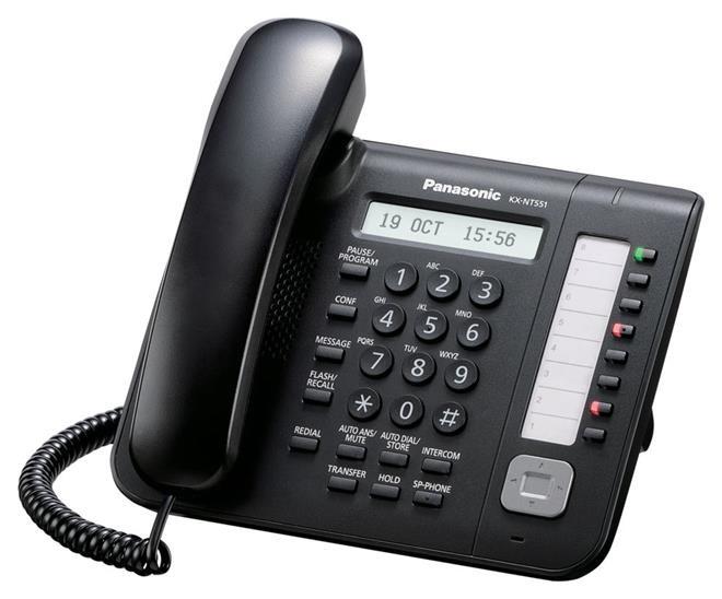 Panasonic KX-NT551 IP phone Black Wired handset LCD