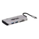 Tripp Lite U442-DOCK5-GY notebook dock/port replicator Wired USB 3.0 (3.1 Gen 1) Type-C Grey