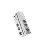 APC PM6-FR limitador de tensión 6 salidas AC 230 V Blanco 2 m