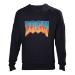 DOOM Men's Vintage Logo Sweater, Extra Large, Black (SW240001DOO-XL)