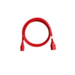 "Raritan SecureLock 15ft power cable Red 181.1"" (4.6 m) C13 coupler C14 coupler"