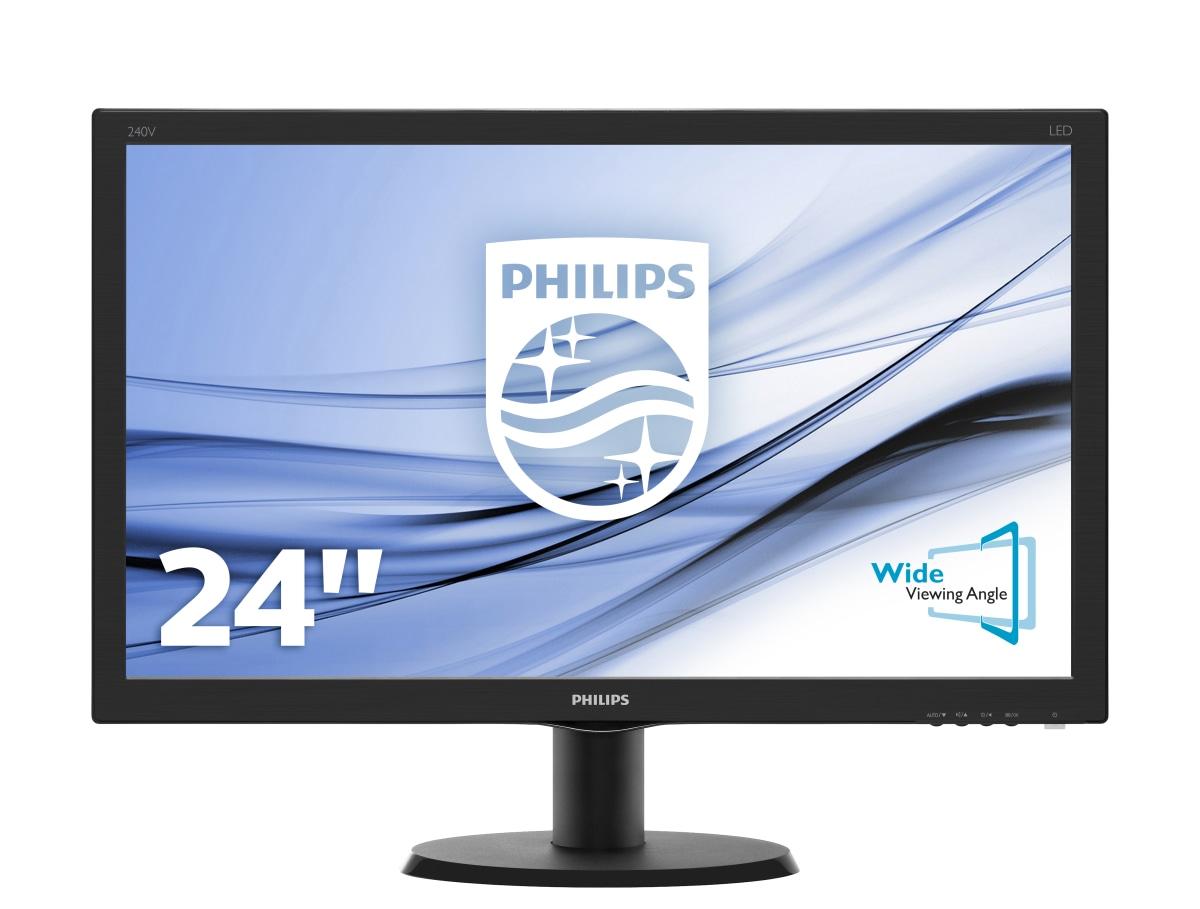 """Philips V Line 240V5QDAB/00 LED display 60.5 cm (23.8"""") 1920 x 1080 pixels Full HD Flat Black"""