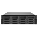 QNAP REXP-1620U-RP 96000GB SAS Rack (3U) Black,Silver disk array