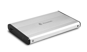 """Dynamode 2.5"""" External SATA Hard Disk Enclosure 2.5"""" Silver USB powered"""