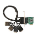 Siig DP 4-Port Industrial RS-232 PCI Express interface cards/adapter Serial Internal