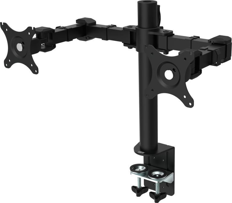 "Vision VFM-DP 30"" Clamp/Bolt-through Black flat panel desk mount"