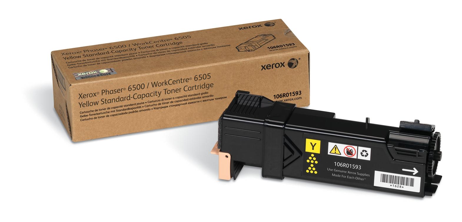 Xerox Phaser 6500/Wc 6505, Cartucho De Tóner Amarillo De Capacidad Normal (1.000 Páginas)