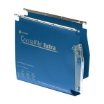 Rexel Crystalfile Extra `275` Lateral File 30mm Blue (25)