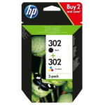 HP X4D37AE (302) Ink cartridge multi pack, 190pg + 165pg, Pack qty 2