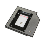 "MicroStorage KIT336 2.5"" Black, Metallic storage drive enclosure"