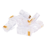 Videk Cat6, RJ45, UTP wire connector RJ-45 Transparent