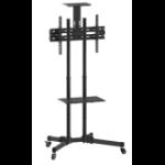 Inland 05446 multimedia cart/stand Black Flat panel Multimedia cart/trolley