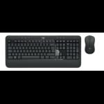 Logitech MK540 keyboard RF Wireless QWERTY US International Black,White