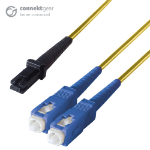 CONNEkT Gear 10m Duplex Fibre Optic Single-Mode Cable OS2 9/125 Micron MT to SC Yellow
