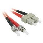 C2G 1m ST/SC LSZH Duplex 62.5/125 Multimode Fibre Patch Cable
