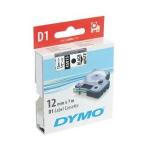 DYMO D1 (SD45013/S0720530) Label Cassette, 12mm x 7m - Black on White