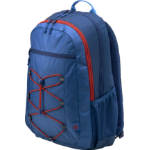 HP Active (Marine Blue/Coral Red) backpack Fabric Blue, Red
