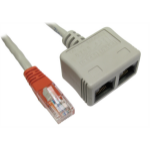 Cables Direct RJ-ECONVV cable splitter/combiner Cable combiner Grey