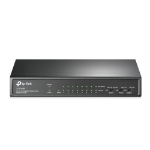 TP-LINK TL-SF1009P network switch Unmanaged Fast Ethernet (10/100) Black Power over Ethernet (PoE)