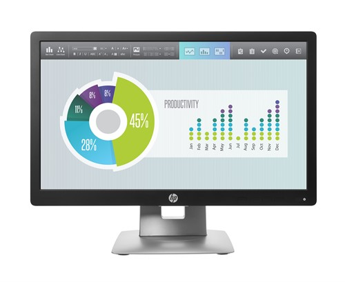 "HP EliteDisplay E202 computer monitor 50.8 cm (20"") HD+ LED Flat Black,Silver"