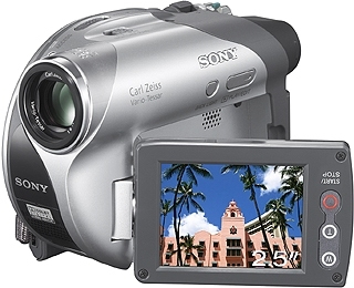 Sony DCR-DVD105E Handheld camcorder 0.8MP CCD Grey,Silver hand-held camcorder