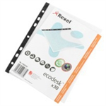 Rexel Ecodesk A5 Pockets Clear (30) sheet protector