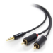 ALOGIC Premium 1m 3.5mm Stereo Audio to 2 X RCA Stereo Male Cable - (1) Male to (2) Male