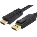 BLUPEAK 5M DISPLAYPORT MALE TO HDMI MALE CABLE (LIFETIME WARRANTY) - DP TO HDMI ONLY