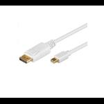 Microconnect Mini Displayport - Displayport, 1m, M-M 1m mini DisplayPort DisplayPort Wit