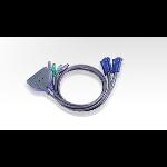 Aten 2-Port PS/2 KVM Switch Black KVM switch