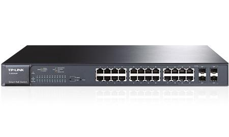 TP-LINK TL-SG2424P Managed L2 Gigabit Ethernet (10/100/1000) Power over Ethernet (PoE) 1U Black network switch