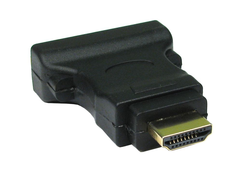 Cables Direct CDL-DV005 DVI-D 19-p HDMI M Black cable interface/gender adapter