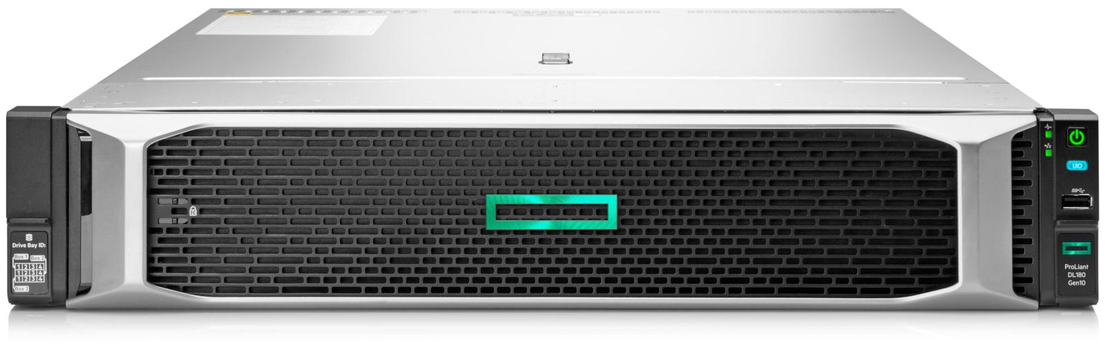 Hewlett Packard Enterprise ProLiant DL180 Gen10 server Intel Xeon Silver 2.1 GHz 16 GB DDR4-SDRAM 144 TB Rack (2U) 500 W