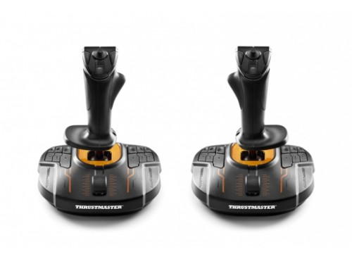Thrustmaster T.16000M FCS SPACE SIM DUO Joystick PC Analogue / Digital USB Black,Orange