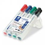 Staedtler Lumocolor 351 B WP4 permanent marker Black,Blue,Green,Red Bullet tip 4 pc(s)