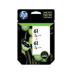 HP 61 2-pack Tri-color Original Ink Cartridges