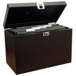 Cathedral Products Value Cathedral Metal File Box Foolscap Black