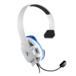 Turtle Beach Recon Chat Headset for PS5, PS4, Xbox, Switch - White & Blue