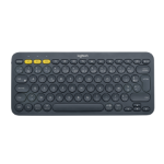 Logitech K380 keyboard Bluetooth AZERTY French Grey