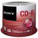 Sony 700MB 48x Spindle CD-R Discs - 50 Pack (50CDQ80SP)