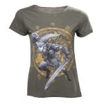 Nintendo Legend of Zelda Woman's Link at the Gate of Time T-Shirt, Extra Large, Military Green (TS224014ZEL-X