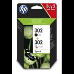 HP 302 Original Black,Cyan,Magenta,Yellow Multipack