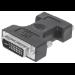Manhattan DVI-I / VGA Adapter HD15 FM Black