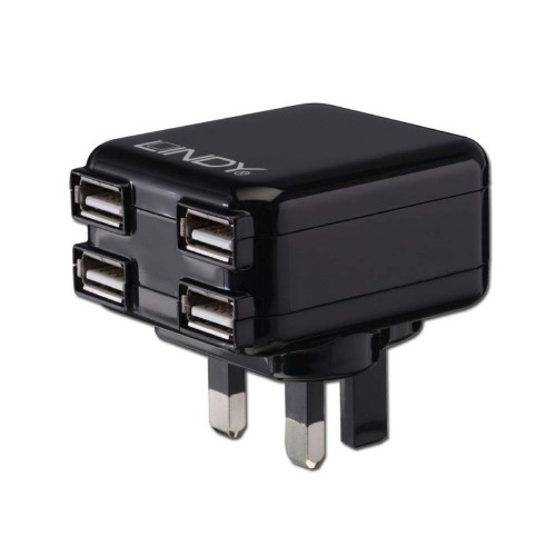 Lindy 73354 mobile device charger Indoor Black